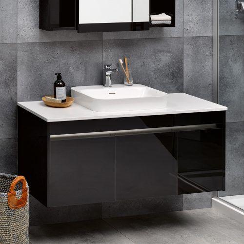Sirocco Alumino 1200 Exochique Black Snow Bench Top Serifos Basin One Tap Hole Rrp 3870 Luxury Bathroom Vanities Bathroom Furniture Bathroom Vanity