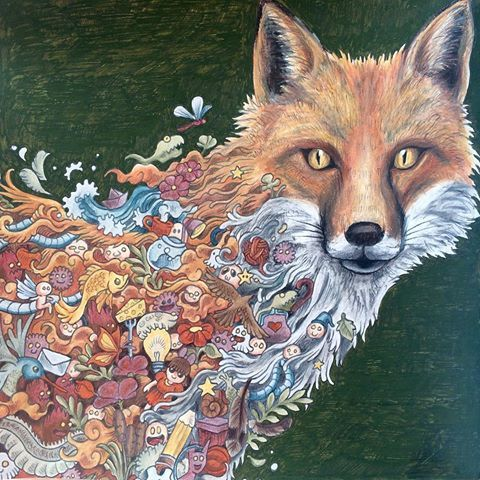 Finished My Fantastic Mr Fox For Morphiamay I Used A Very Scratchy And Infuriating Khaki Green Posca Pen The Background But Im Going To Pretend That