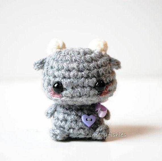 Baby Brown Bat - Kawaii Mini Amigurumi Plush | Punto de crochet ...