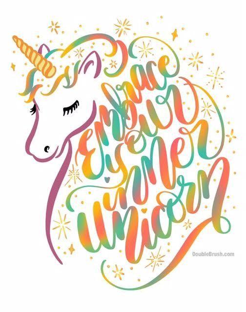 Embrace Your Inner Unicorn Hand Lettering Design