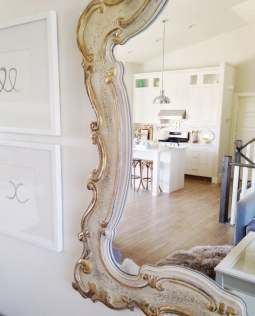 Homesense Mirror Brushed With Gold Spray Paint A Bright And Airy Home In Alberta Filled With Glam Personal Touches Home Diy Home Accessories Home Decor