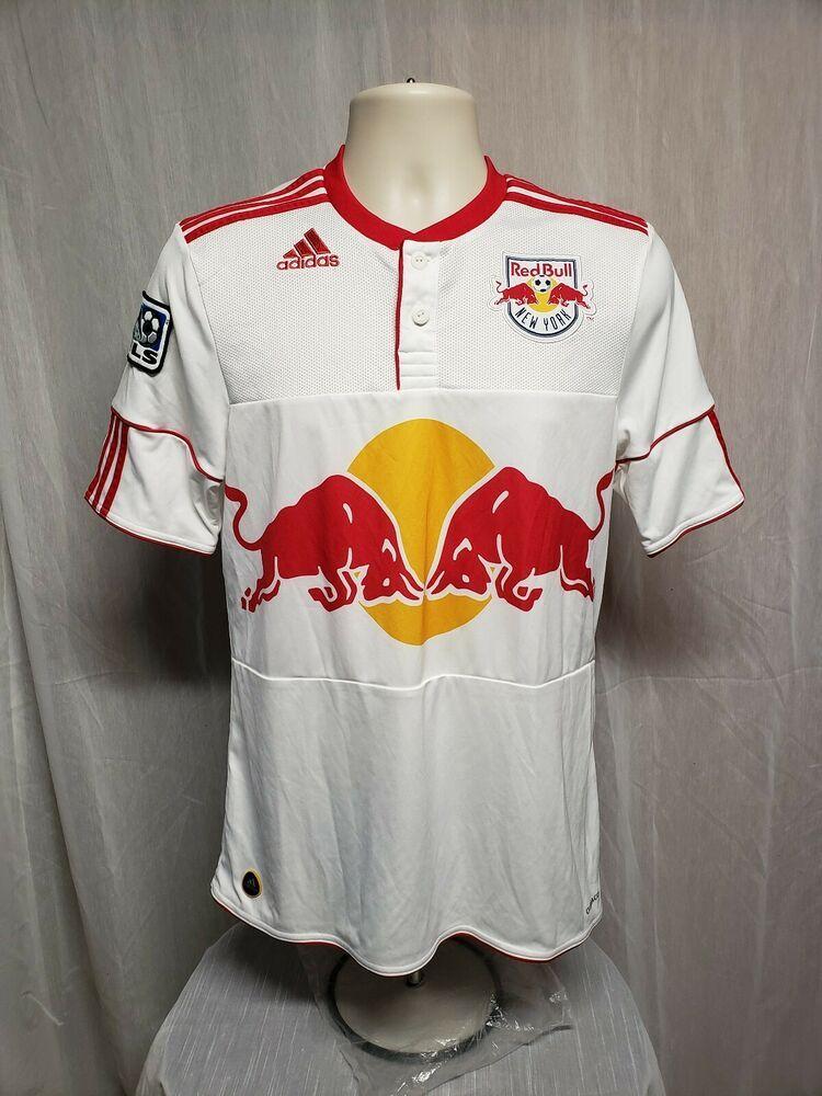 d30f4fc6c MLS Adidas New York Red Bull Henry  14 Mens Small White Football Soccer  Jersey  adidas  NewYorkRedBulls
