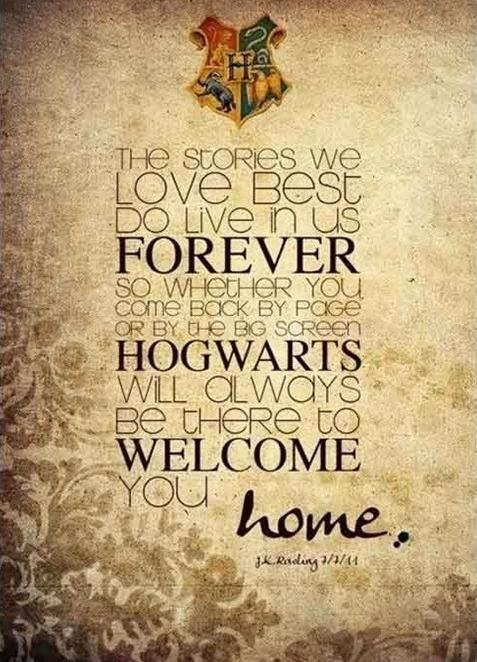 Welcome Home Harry Potter Quotes Harry Potter Obsession Hogwarts