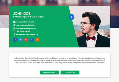 15 Best HTML Resume Templates for Awesome Personal Sites by Brenda