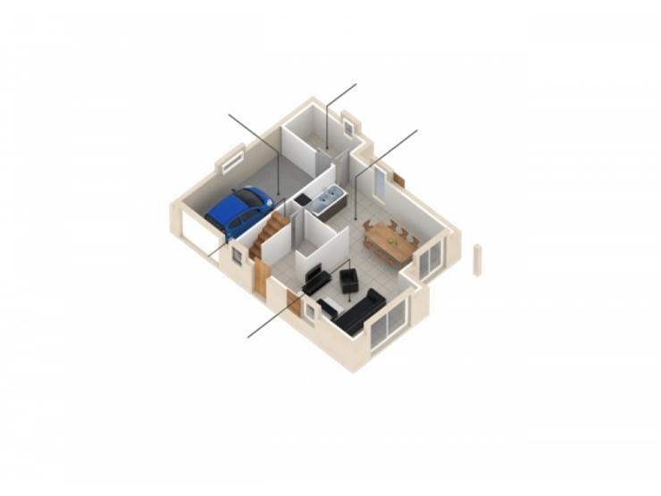 Plans de maison  RDC du modèle Natura Alpes  maison traditionnelle - plan maison france confort