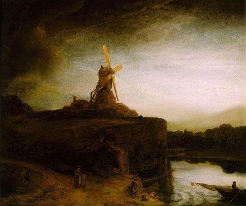 LE MOULIN - 1650 #rembrandt #moulin #toile #peinture #master #maitre ...