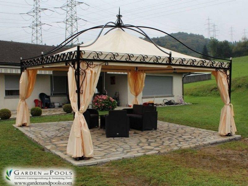 Massiver Pavillon  - gartenpavillon selber bauen