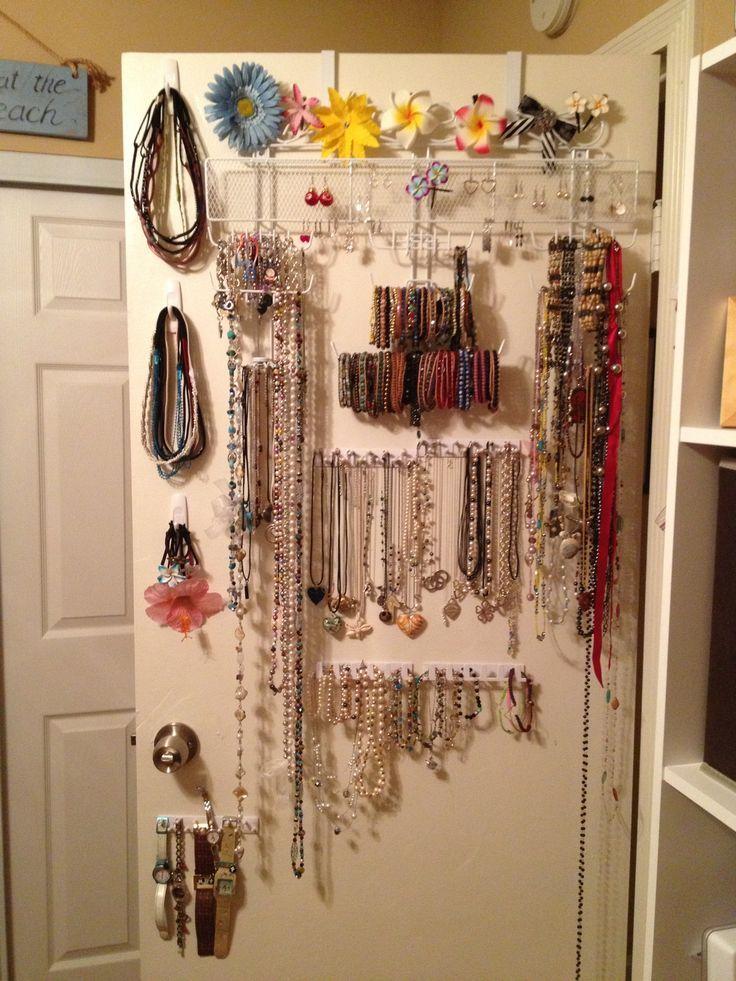 Diy overthedoor jewelry organizer plus command hooks