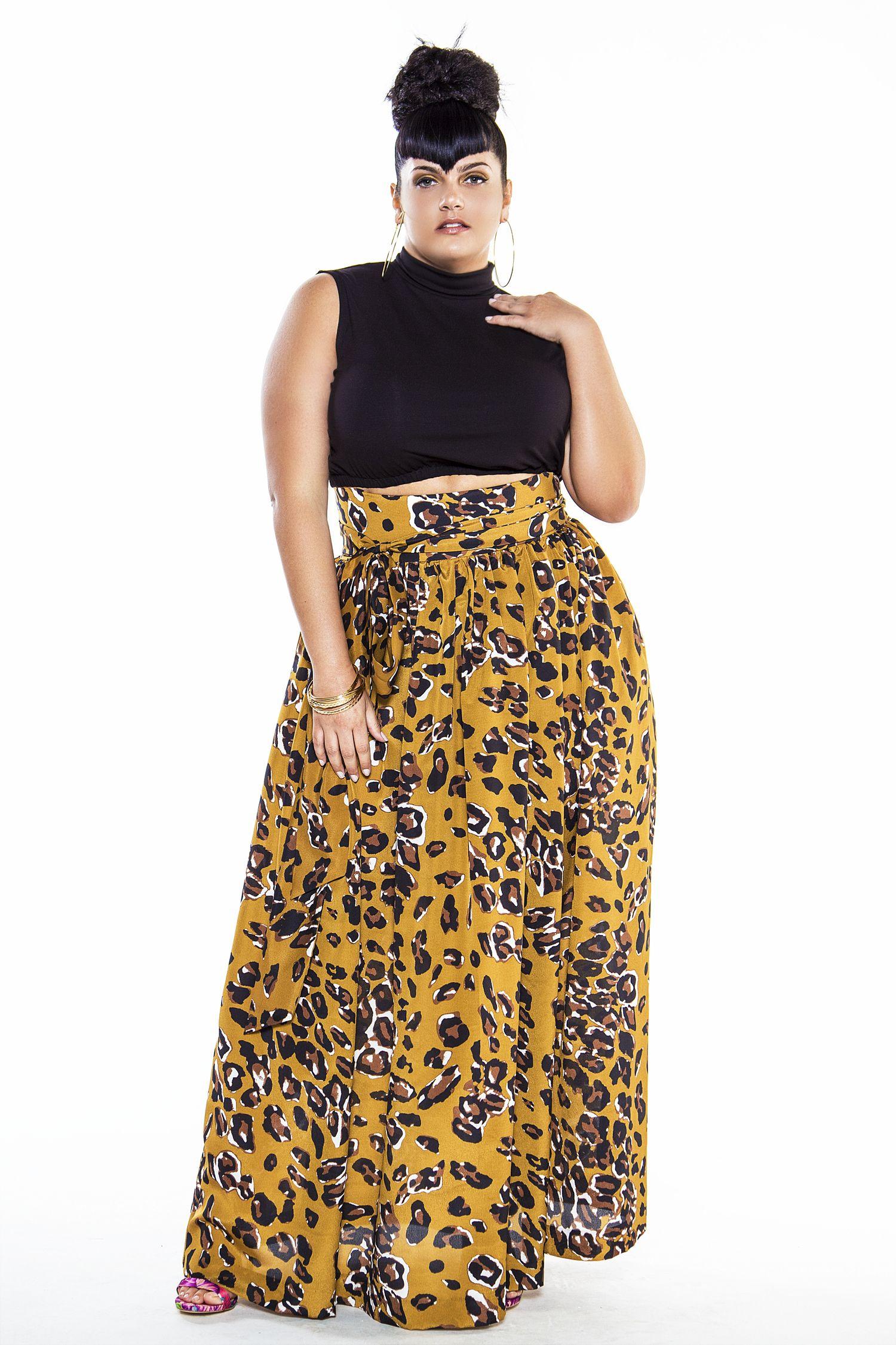 f052d363f7 JIBRI High Waist Animal Print Maxi Skirt
