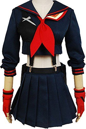 Yacos Halloween Girls Battlesuit Ryuko Matoi Dress Outfit Cosplay Costume