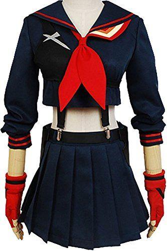 Yacos Halloween Girls Battlesuit Ryuko Matoi Dress Outfit Cosplay Costume