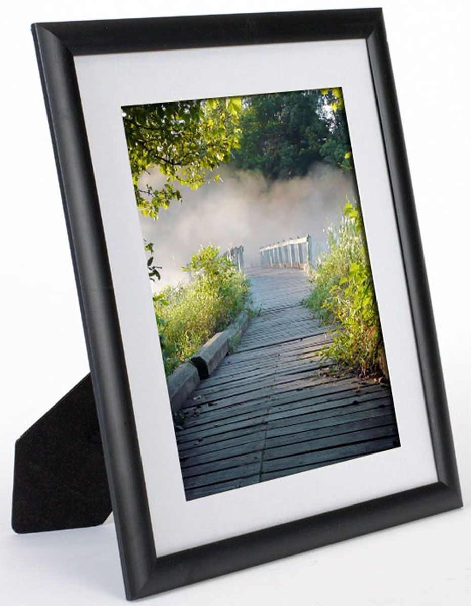 11 x 13 plastic picture frame for table or wall matted to 8 x 10 black needful things. Black Bedroom Furniture Sets. Home Design Ideas