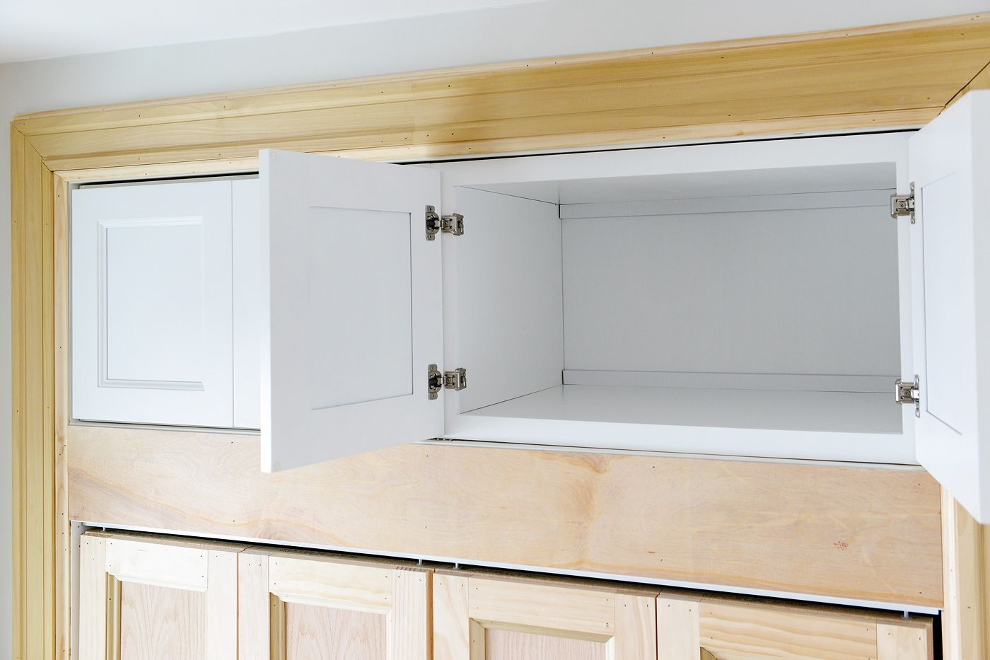 Adding Extra Deep Cabinets Above Our Closet Kitchen Soffit Small Bedroom Remodel Closet Planning