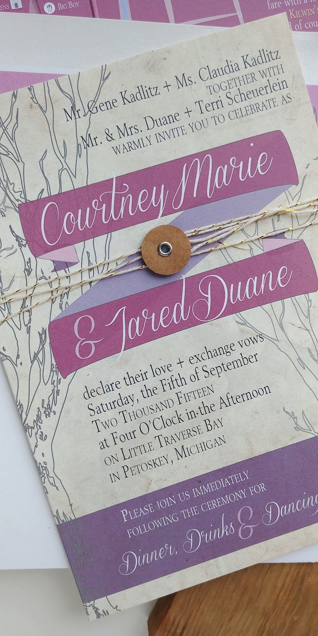 see more of courtney jared s rustic mauve outdoor wedding