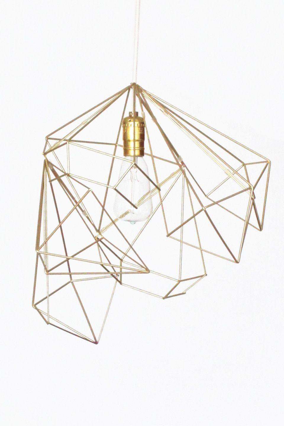 Diy Gold pendant light | DIY Geometric Pendant Light | Pinterest ... for Diy Geometric Lamp  268zmd