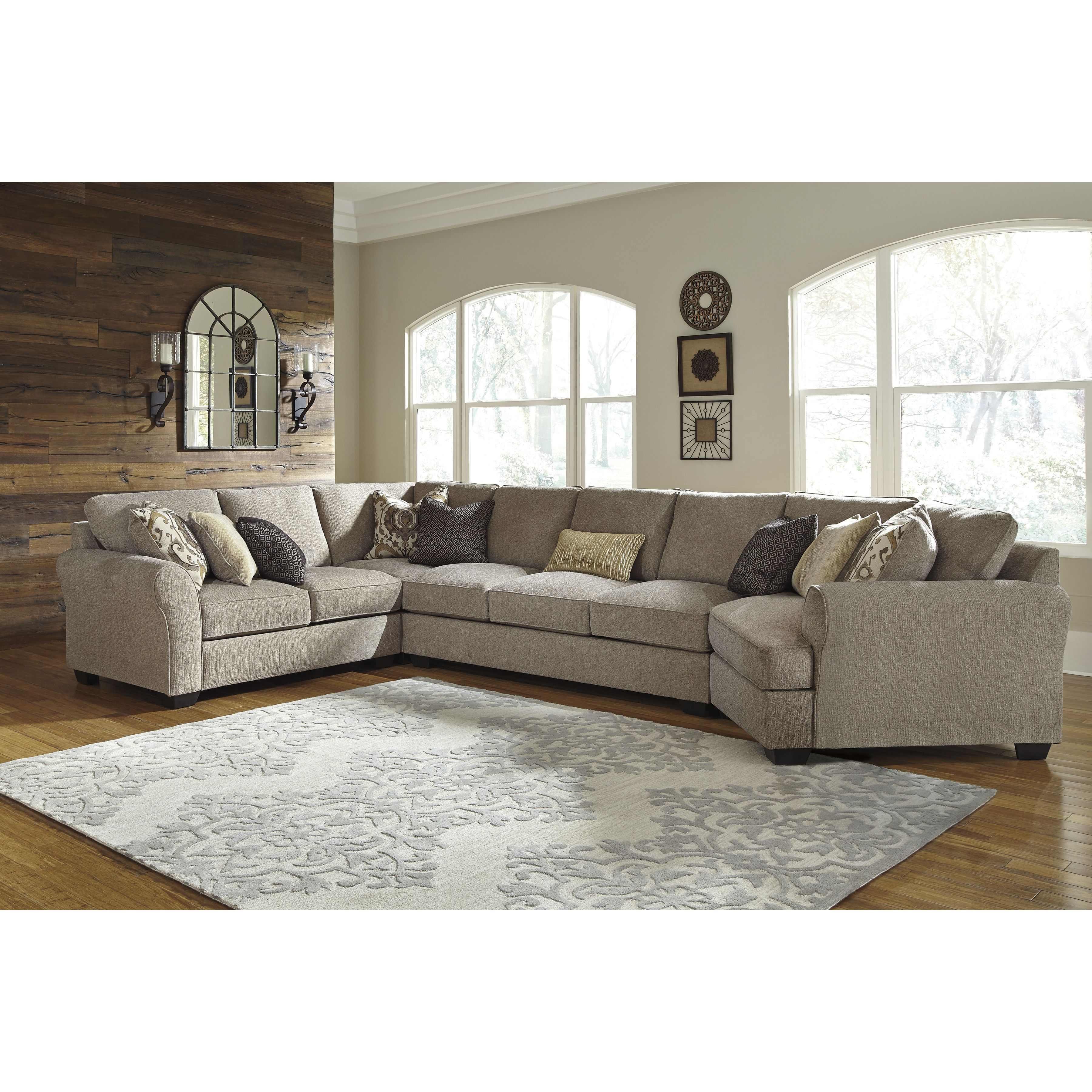 Benchcraft Pantomine Large Cuddler Sectional Living Room Sectional Sectional Sofa City Furniture