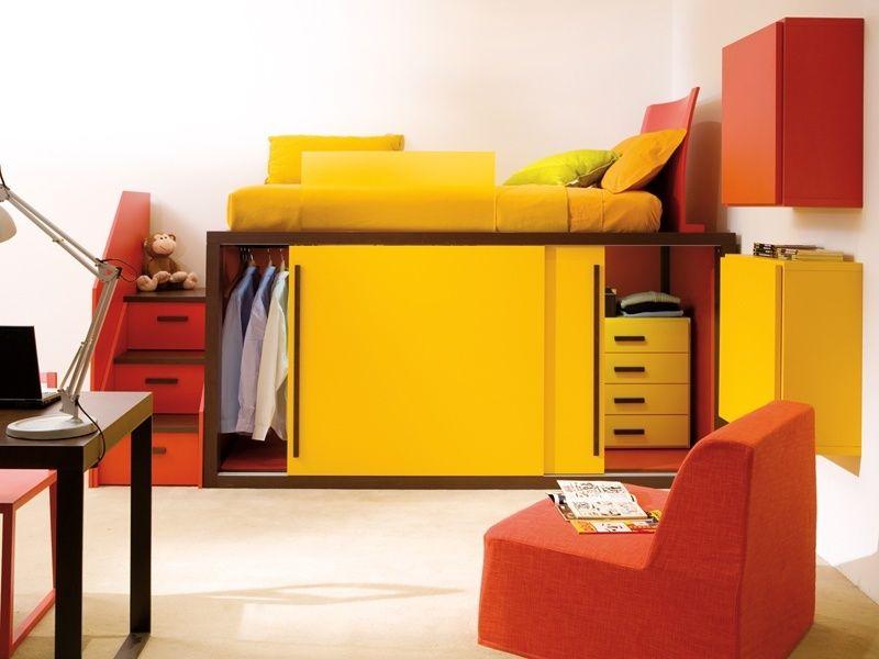 Camas altas con armario debajo buscar con google casa - Armario bajo cama ...