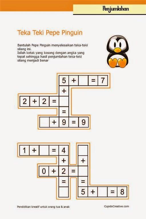 Belajar Anak Tts Penjumlahan Cupido Creative Belajar Matematika Dasar Pendidikan