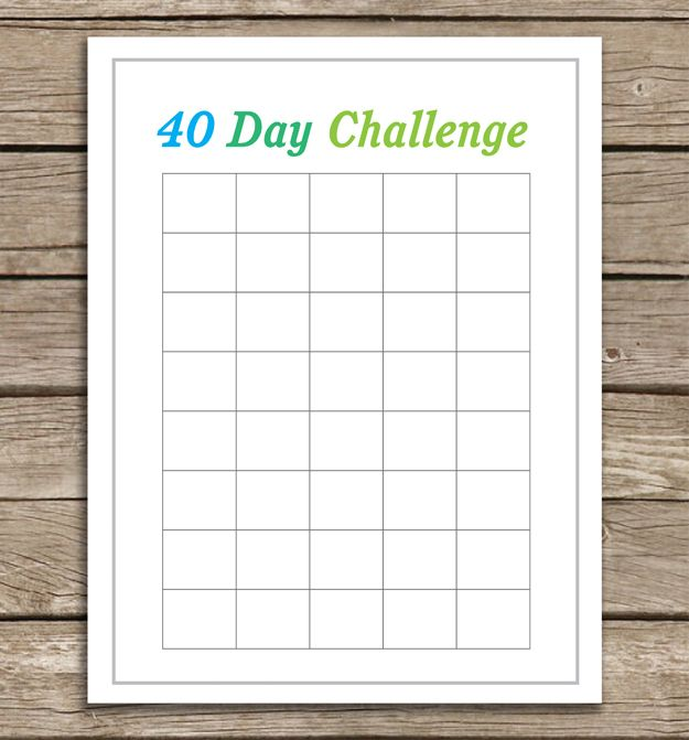 40 Day Challenge Printable Running Abs Eating Healthy So Many