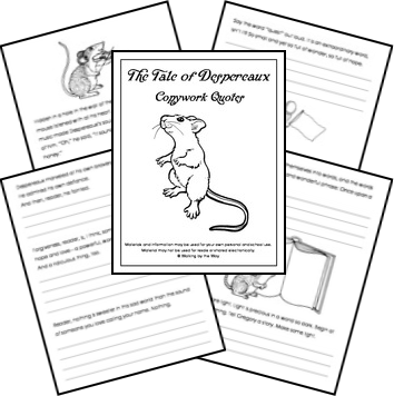 The Tale of Despereaux Copywork Pages (FREE!) from Walking
