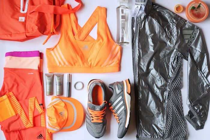 Fashion and style: Fit kit, adidas, flatlay