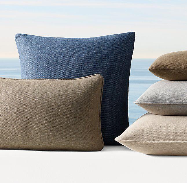 Custom Sunbrella Eco Twill Weave Pillow Cover