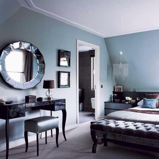 Black And Duck Egg Blue Blue Bedroom Walls Blue Rooms Beautiful Bedrooms