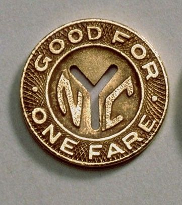 Nyc Good For One Fare Olden Day Subway Token Pre Paper Cards Buses Were Cash Only Subway Token New York Subway Nyc Subway