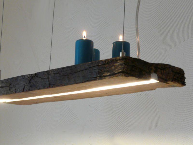 LED Lampe Hängelampe Antik Holzbalken Deckenlampe Holzlampe