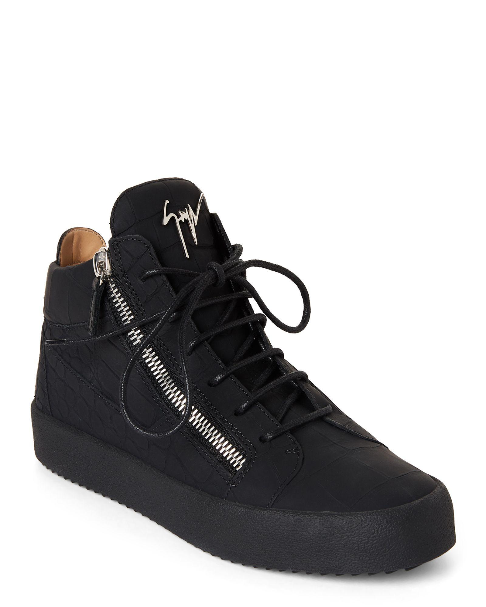 Giuseppe Zanotti Design Black May London Sombry High Top Sneakers Top Sneakers Sneakers High Top Sneakers