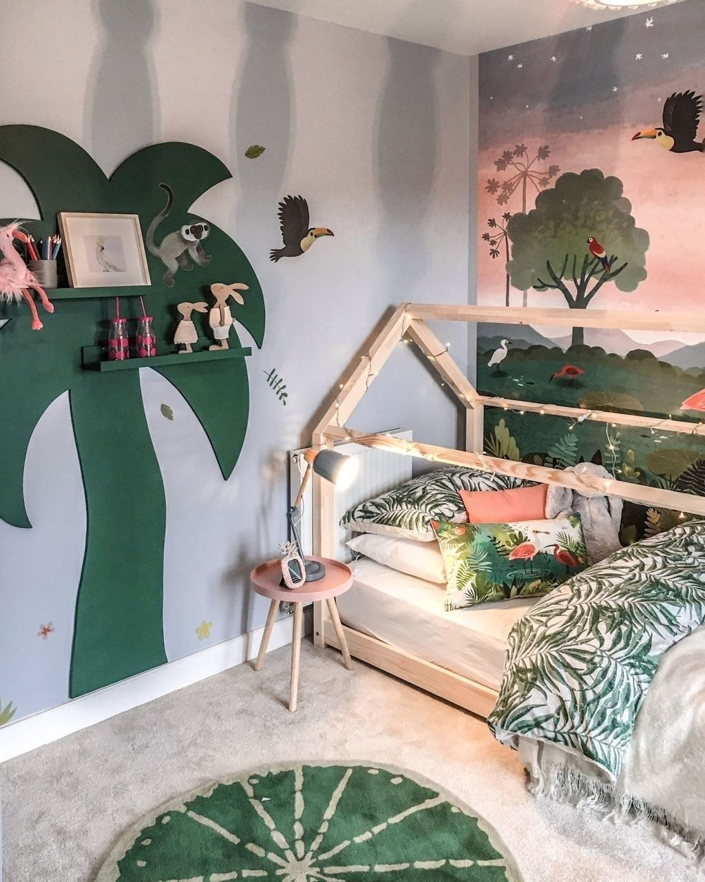 Pin On For The House Toddler jungle bedroom ideas