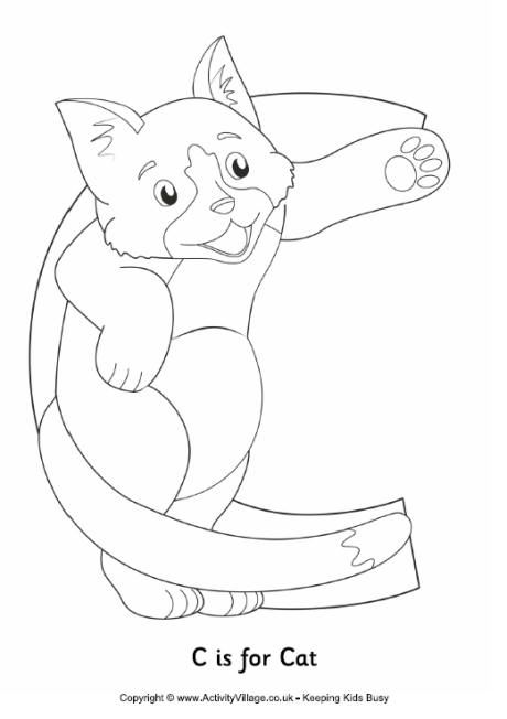 C Is For Cat Colouring Page Cat Coloring Page Cat Template