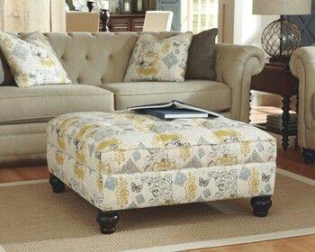 Ashley Furniture Hindell Park Living Room Ottoman Living