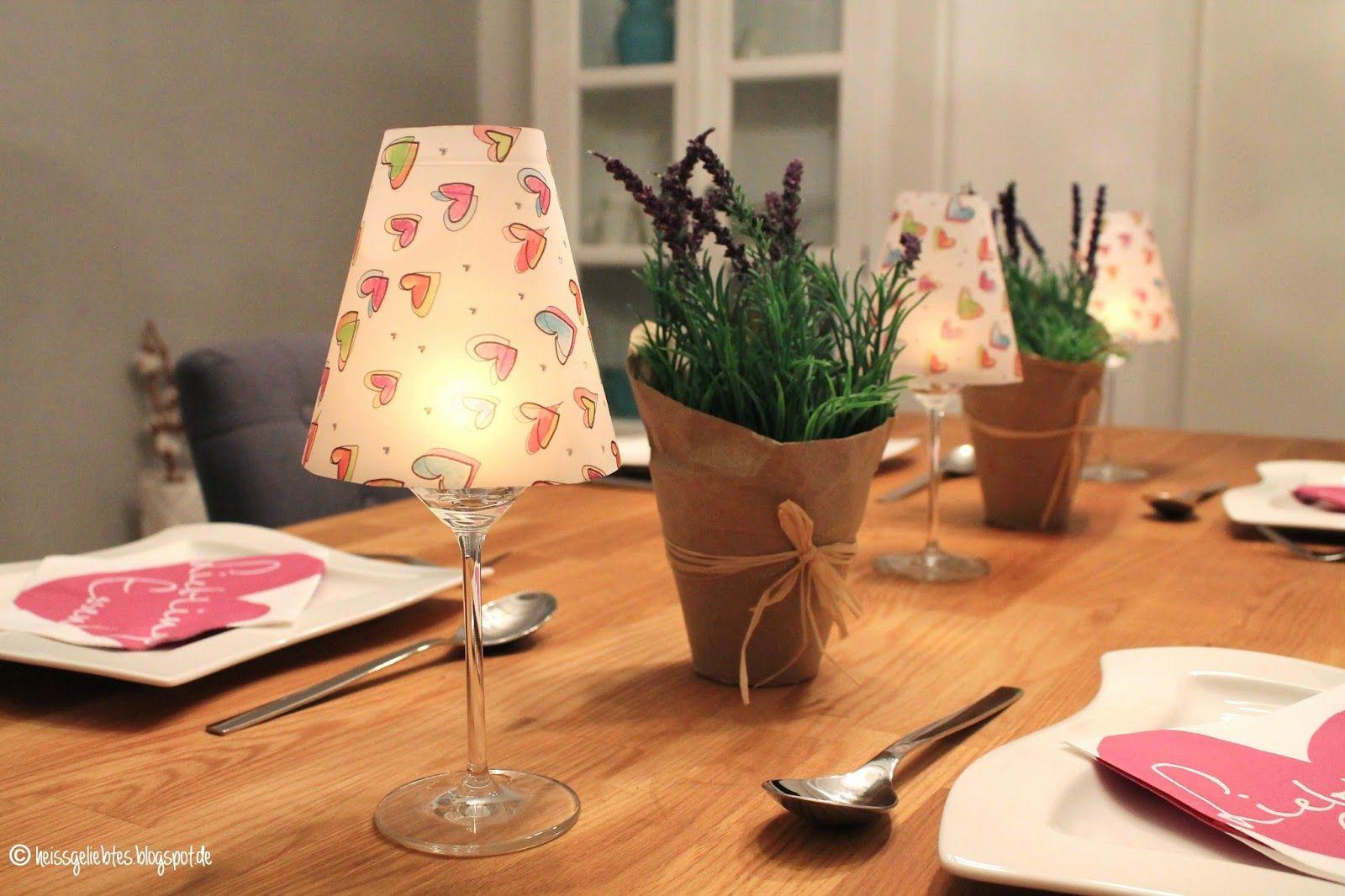 heissgeliebtes...: DIY Weinglas Lampenschirme
