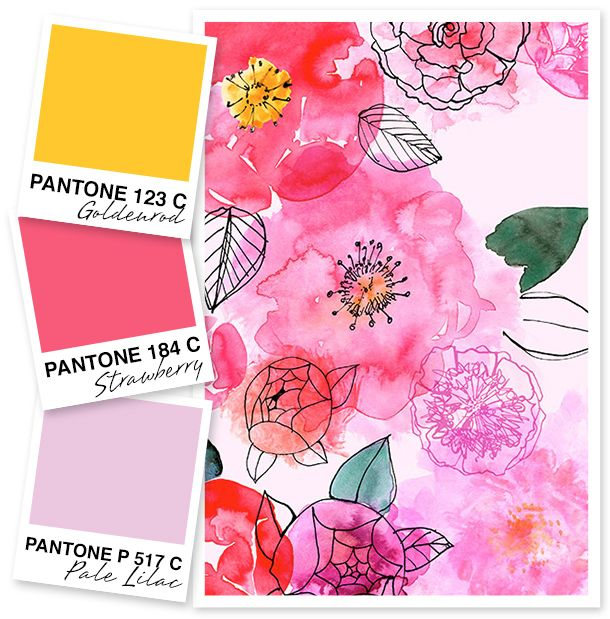 Yellow, Pink and Lilac Color Palette by Sarah Hearts