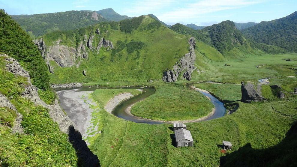 Kuća na nenaseljenom ostrvu Urup, Kuriles