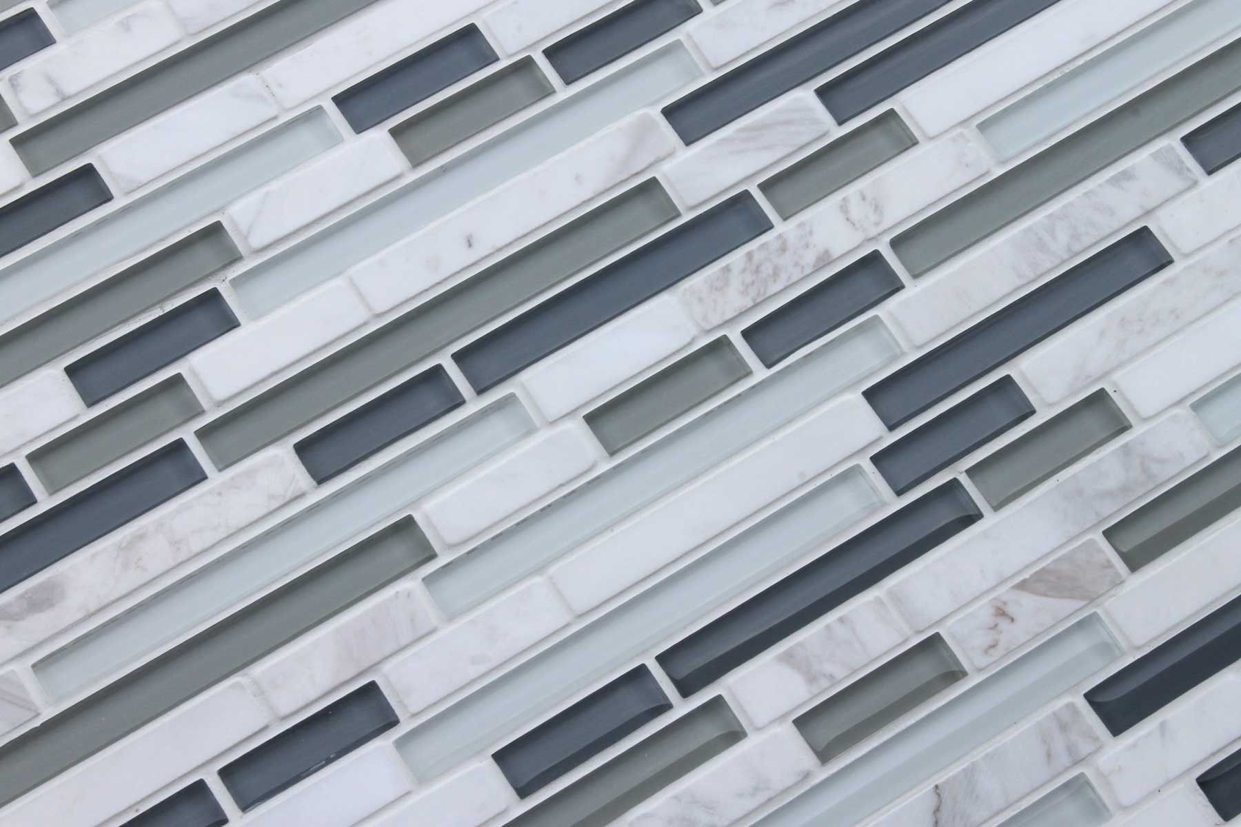 Bliss Iceland Stone and Glass Linear Mosaic Tiles | Home improvement ...