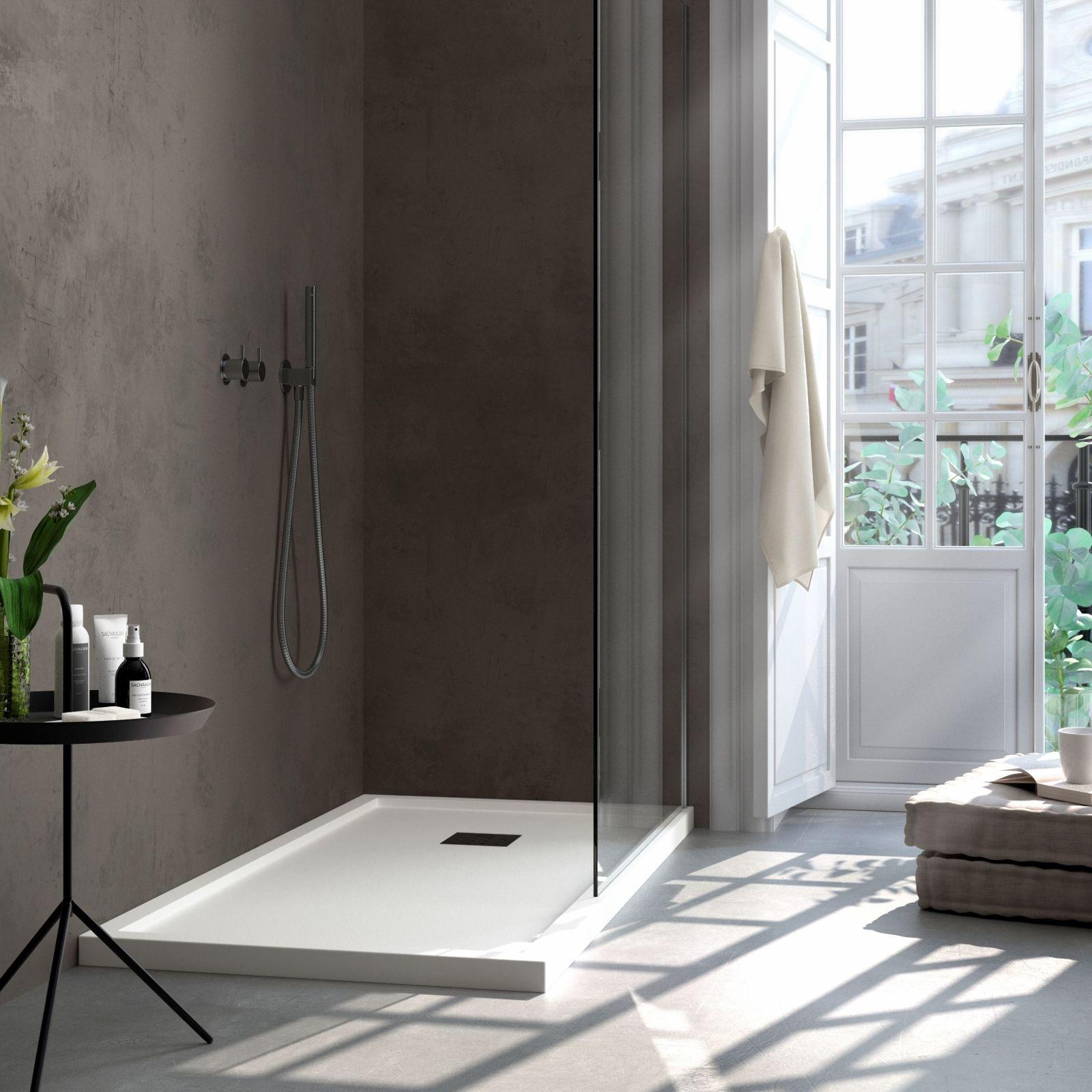 Details zu Duschwanne flache Duschtasse mit Einfassung