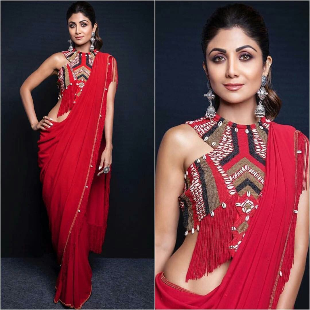 12 Saree Looks Of Shilpa Shetty That Will Surely Leave You Impressed Designer Saree Blouse Patterns Indian Saree Blouses Designs Saree Look Kriti sanon in floor length anarkali. 12 saree looks of shilpa shetty that