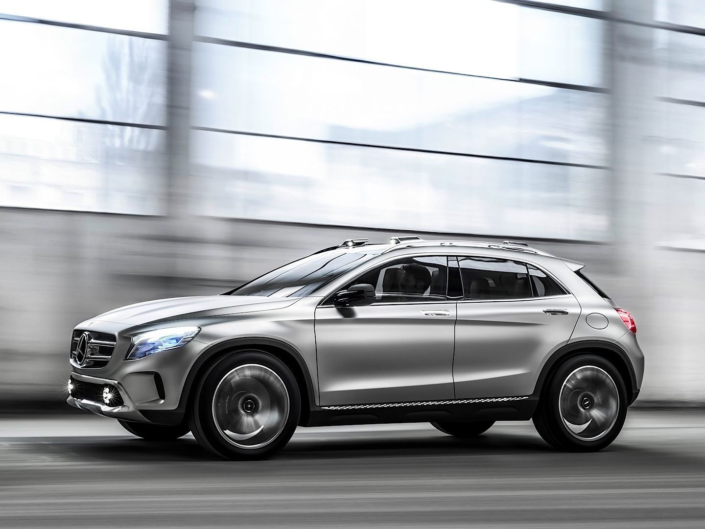 The upcoming mercedes benz gla compact crossover should show us its production trim at the