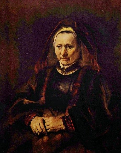 Portrait of an Old Woman By Rembrandt