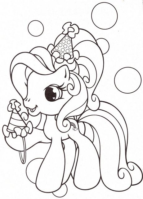 Rainbow Dash Conical Hats Coloring Pages | Rainbow Horse | Pinterest