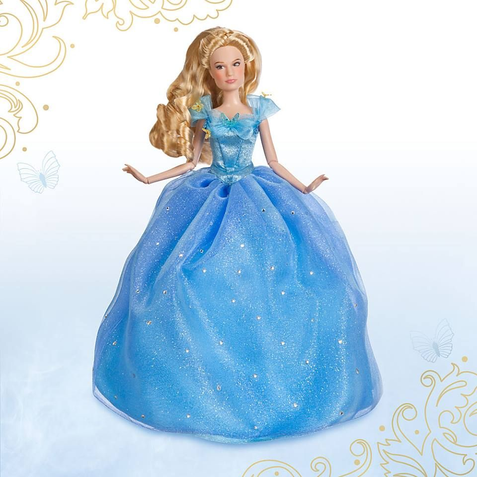 Disney Store Live Action Film Ed Deluxe Cinderella Doll,Lily James