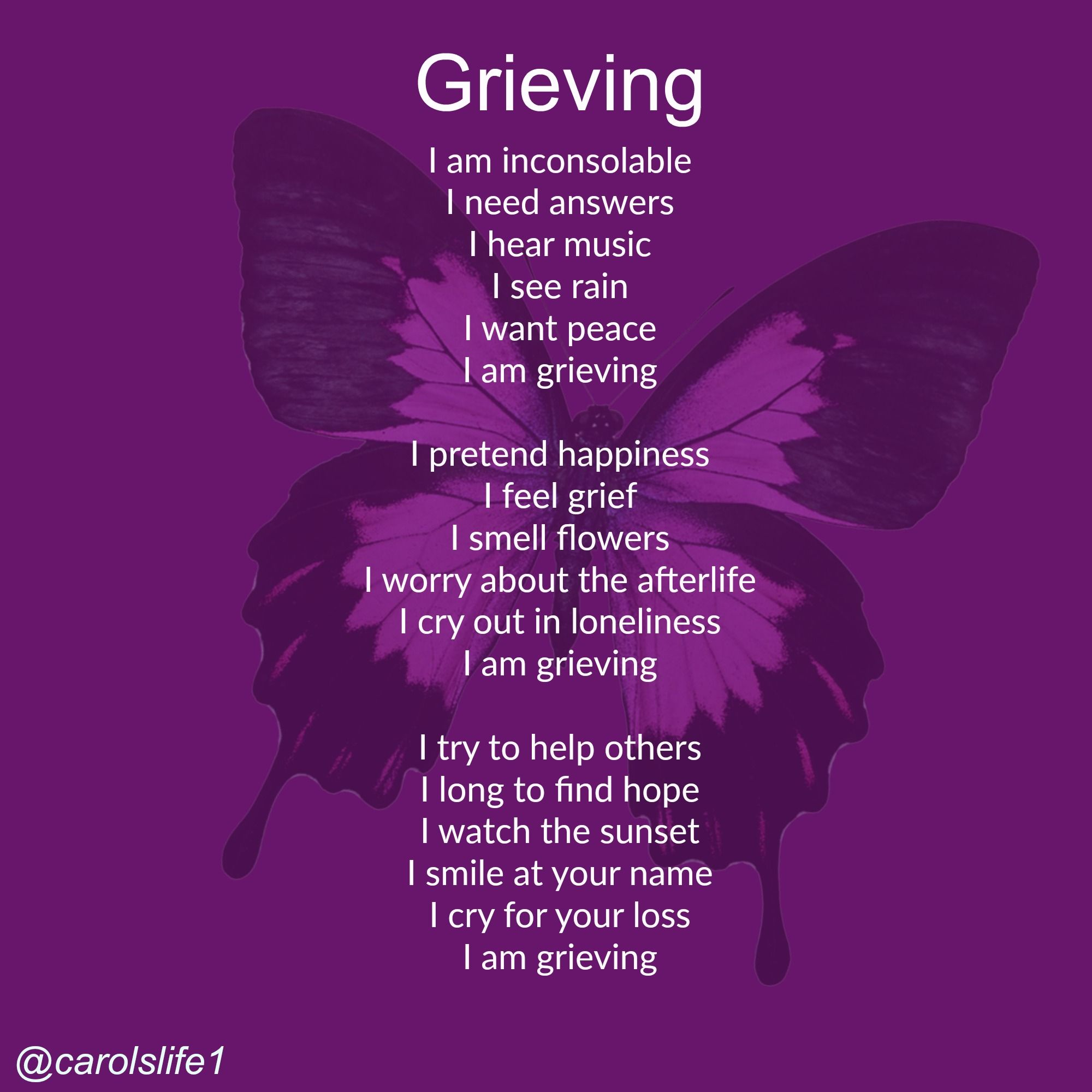 I Find That One Moment I M Fine And Going About Life As Usual Then Suddenly I Have An Episode It Just Comes Over Me Like A Grief Quotes Grieve I