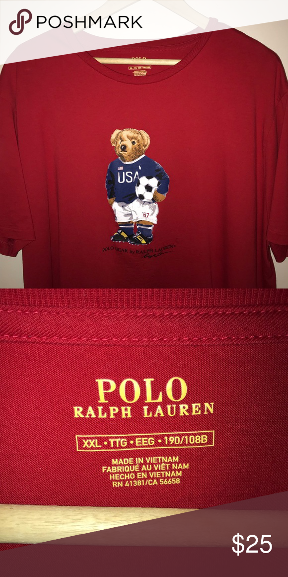 Ralph Bear Shirt Polo Lauren T 2xl tCdxsQBrho