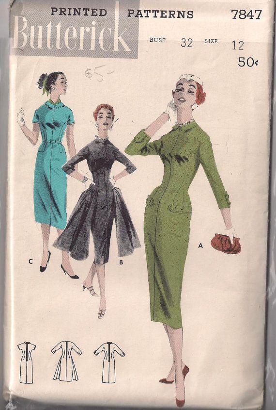 1950s Butterick Dress Pattern by starrlara on Etsy, $9.99 | 50s ...