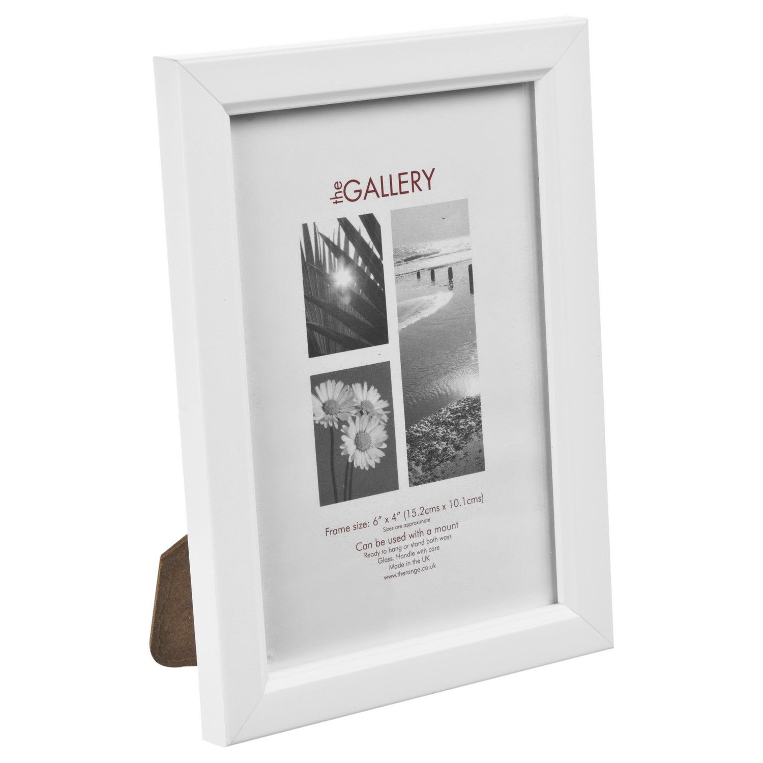 This white frame is a perfect addition to any home and can be hung ...