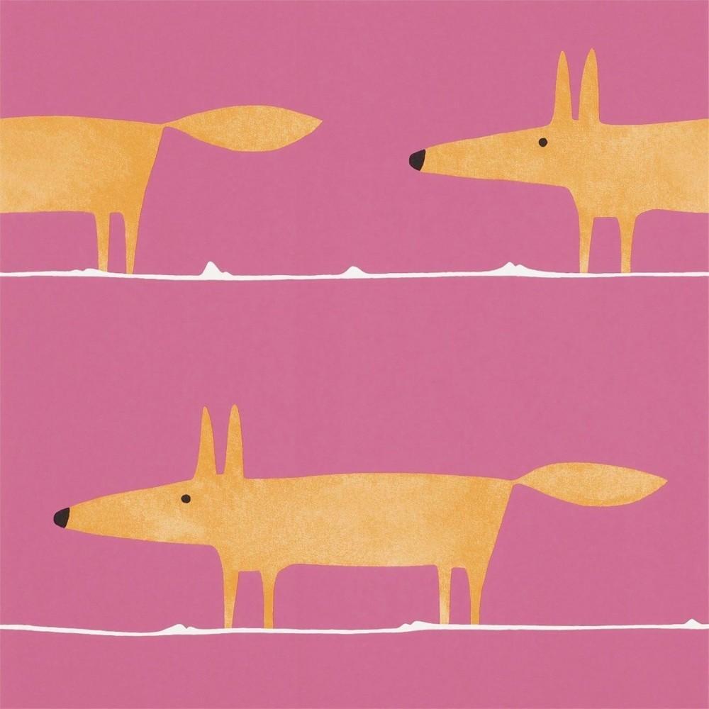 Harlequin Scion Mr Fox Blush Pink Curtain blind fabric