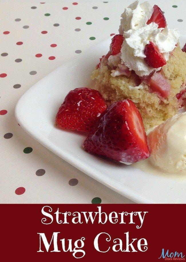 Strawberry Mug Cake Recipe | Mug recipes, Easy mug cake ...