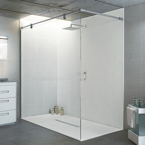 this large statement walkin shower has been created in a